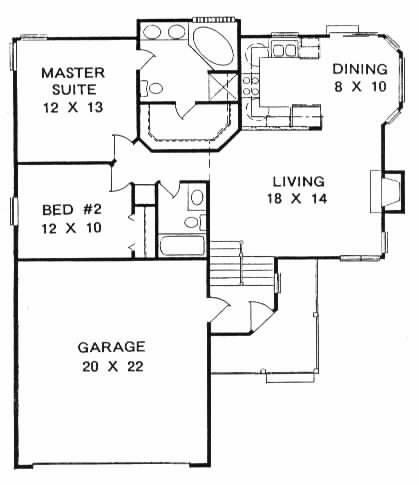 Plan # 1000 - Bi-Level | First floor plan