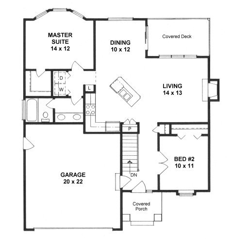 Plan # 1012 - Ranch | First floor plan
