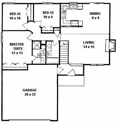 Plan # 1024 - Ranch | First floor plan