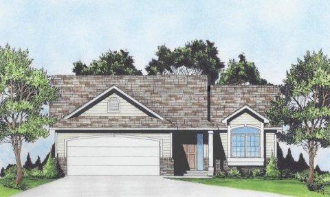 Plan # 1033 - Ranch | Large render view