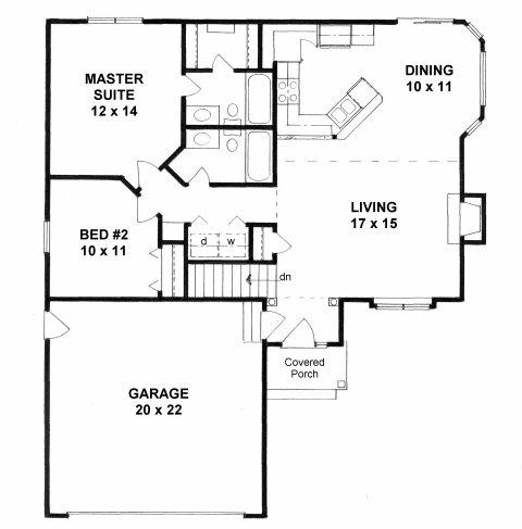 Plan # 1033 - Ranch | First floor plan