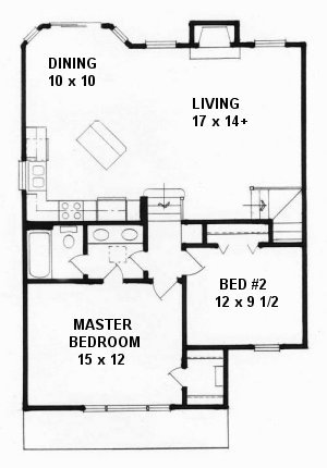 Plan # 1040 - Bi-Level | First floor plan