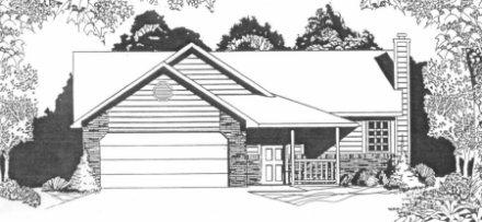 Plan # 1041 - Ranch | Large render view