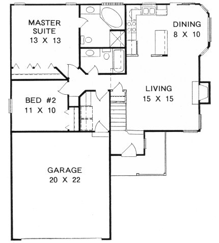 Plan # 1041 - Ranch | First floor plan