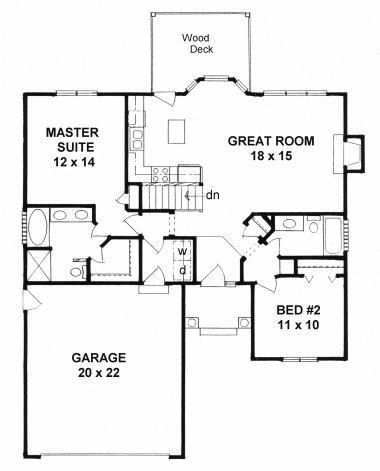 Plan # 1091 - Ranch | First floor plan
