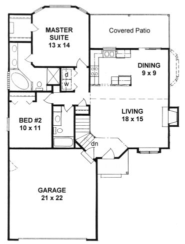 Plan # 1103 - Ranch | First floor plan