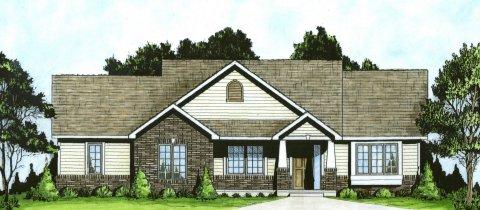Plan # 1111 - Ranch   Large render view