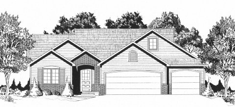 Plan # 1114 - Ranch | Large render view