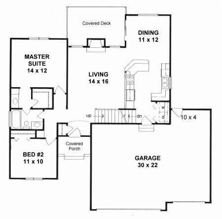 Plan # 1114 - Ranch | First floor plan