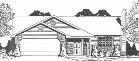 Plan # 1120 - Ranch | Large render view