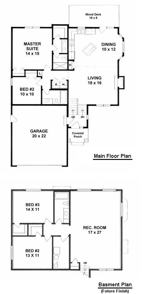 Bi Level Deck Home Design Ideas Pictures Remodel And Decor: 2 Bedroom Bi-Level Home With Open Living