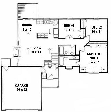 Plan # 1146 - Ranch | First floor plan