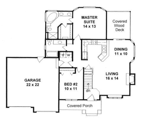 Plan # 1150 - Ranch | First floor plan
