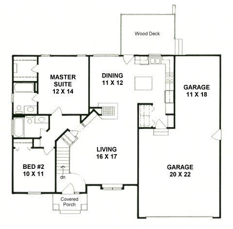 Plan # 1158 - Ranch | First floor plan