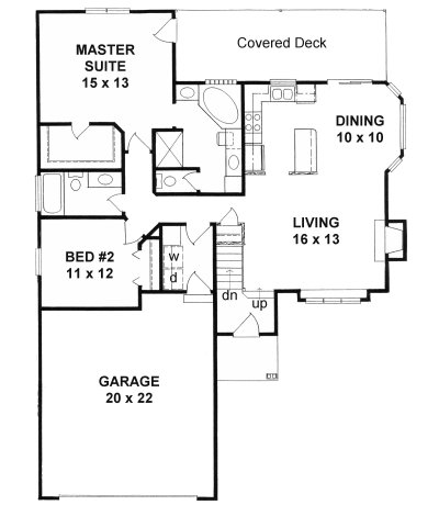 Plan # 1160 - Ranch | First floor plan