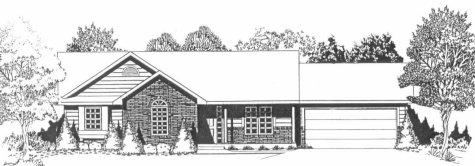 Plan # 1172 - Ranch | Large render view