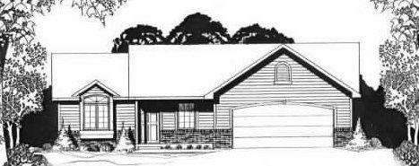Plan # 1190 - Ranch | Large render view
