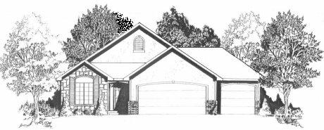Plan # 1196 - Ranch | Large render view