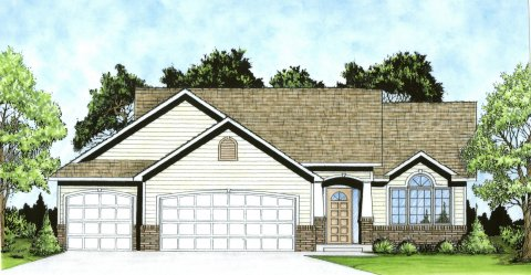 Plan # 1206 - Ranch | Large render view