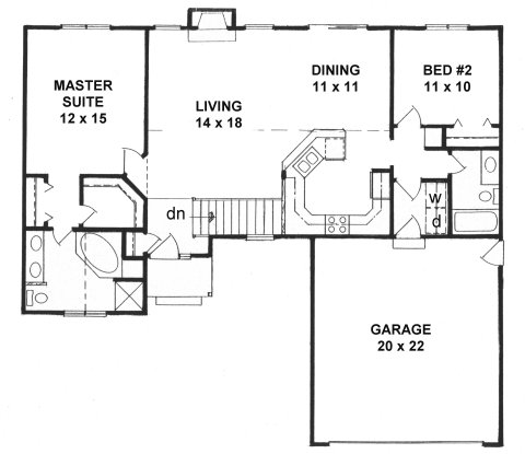 Plan # 1218 - Ranch | First floor plan