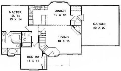 Plan # 1228 - Ranch | First floor plan