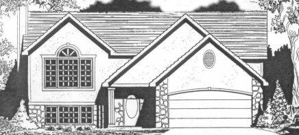 Plan # 1231 - Bi-Level | Large render view