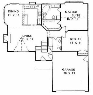 Plan # 1231 - Bi-Level | First floor plan