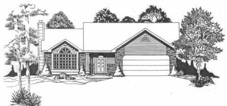 Plan # 1235 - Ranch | Large render view