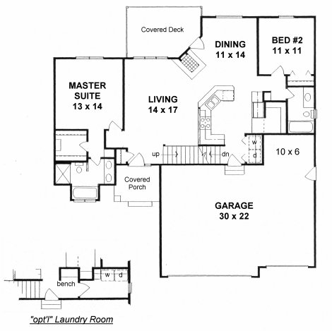 Plan # 1239 - Ranch | First floor plan