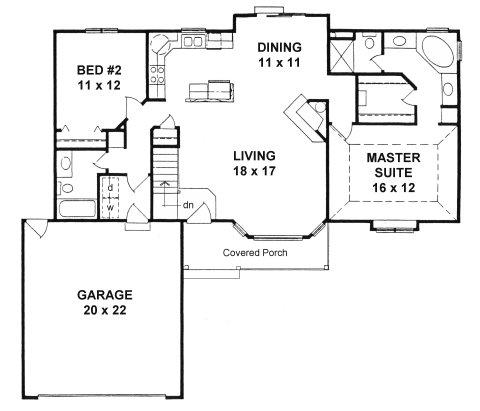 Plan # 1244 - Ranch | First floor plan