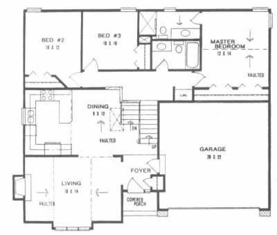4 level back split house plans - House interior