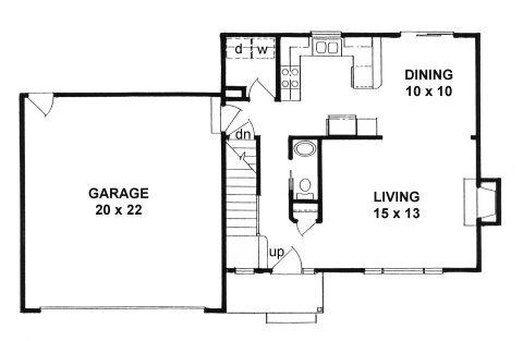 Plan # 1269 - 2- Story | First floor plan