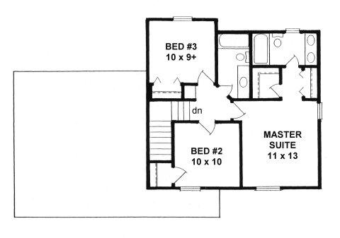 Plan # 1269 - 2- Story | Second floor plan