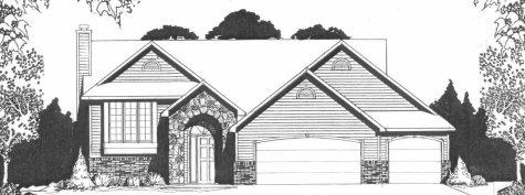 Plan # 1270 - Bi-Level | Large render view