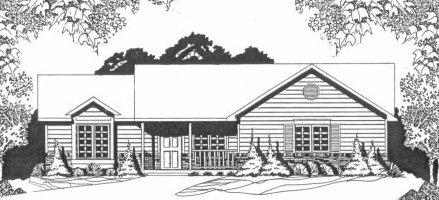 Plan # 1271 - Ranch   Large render view