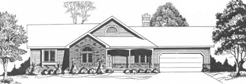 Plan # 1281 - Ranch | Large render view