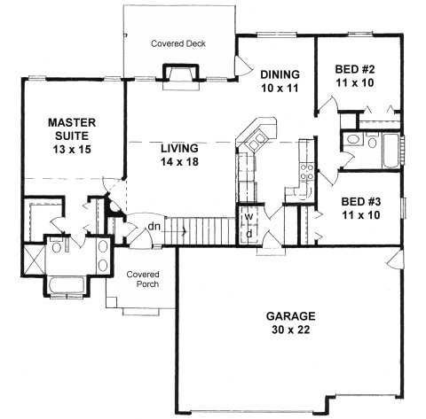 House Plans For A X Lot   Free Online Image House Plans    Narrow Lot Ranch House Plans With Car Garage on house plans for a x