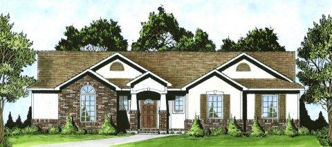 Plan # 1307 - Ranch | Large render view