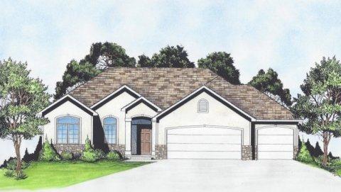 Plan # 1315 - Ranch   Large render view
