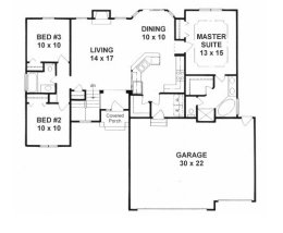 1400 sq ft house plans no garage arts 1550 square foot for House plans under 1400 sq ft