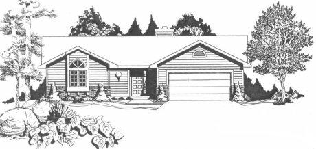 Plan # 1324 - Ranch | Large render view