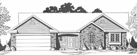 Plan # 1338 - Ranch | Large render view