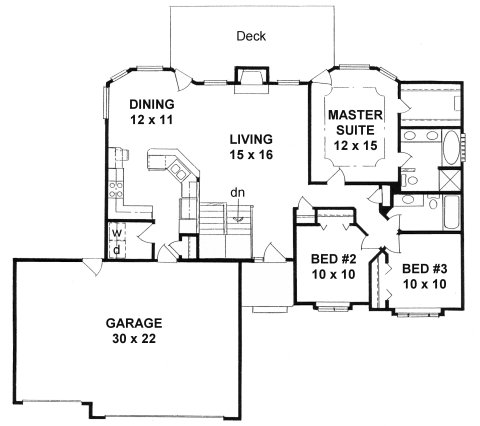 Plan # 1339 - Ranch | First floor plan