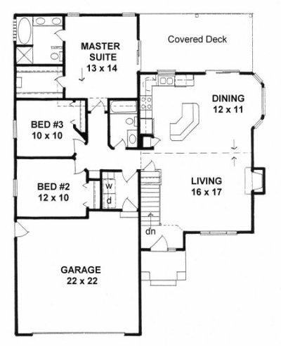 Plan # 1367 - Ranch | First floor plan