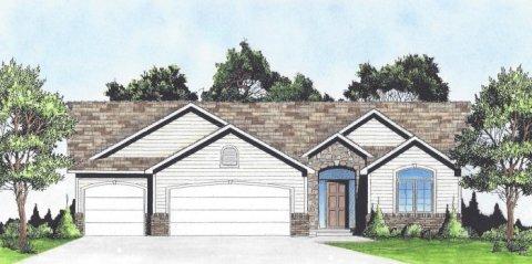 Plan 1387 2 Bedroom Quot Open Floor Plan Quot Ranch W Walk In Pantry And 3 Car Garage