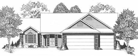 Plan # 1431 - Ranch | Large render view