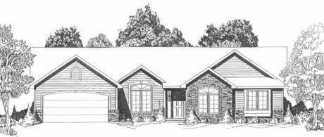 Plan # 1436 - Ranch | Large render view