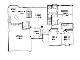 House plans from 1400 to 1500 square feet page 3 House plans under 1400 sq ft