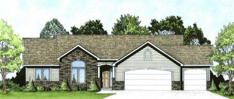 Plan # 1483 - Ranch | Large render view