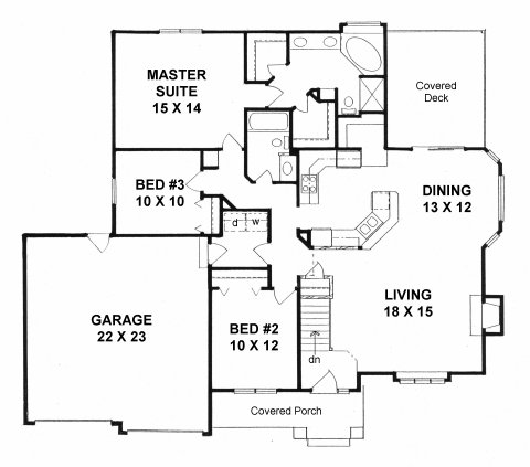 Plan # 1484 - Ranch | First floor plan